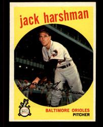 1959 JACK HARSHMAN TOPPS #475 ORIOLES EXMT #4822