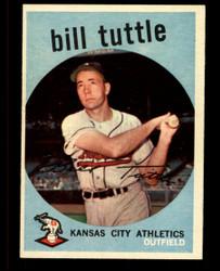 1959 BILL TUTTLE TOPPS #459 ATHLETICS EXMT #4785