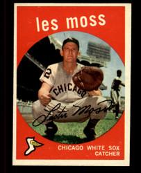 1959 LES MOSS TOPPS #453 WHITESOX EXMT #4754