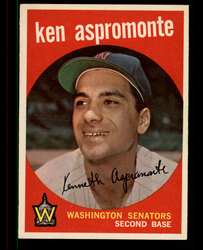 1959 KEN ASPROMONTE TOPPS #424 SENATORS EXMT #2545