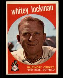 1959 WHITEY LOCKMAN TOPPS #411 ORIOLES EXMT #4362