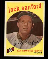 1959 JACK SANFORD TOPPS #275 GIANTS EXMT #4392