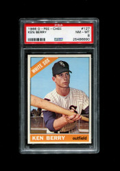 1966 KEN BERRY OPC #127 O PEE CHEE WHITESOX PSA 8