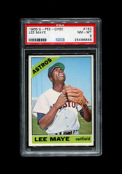 1966 LEE MAYE OPC #162 O PEE CHEE ASTROS PSA 8