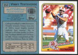 1988 VINNY TESTAVERDE #352 TOPPS CASE FRESH 27 CT LOT! NRMT/MINT OR BETTER