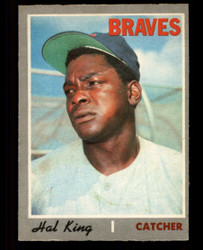 1970 HAL KING OPC #327 O PEE CHEE BRAVES EXMT #4643