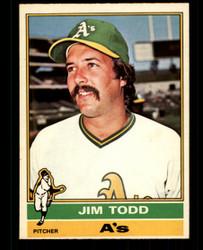 1976 JIM TODD OPC #221 O PEE CHEE ATHLETICS NM #4623