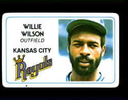 1981 WILLIE WILSON PERMA GRAPHICS ROYALS #2771