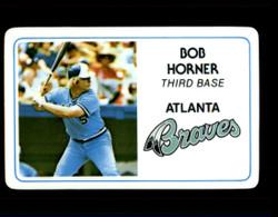 1981 BOB HORNER PERMA GRAPHICS BRAVES #4993