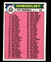 1979 CHECKLIST OPC #121 O PEE CHEE #2524