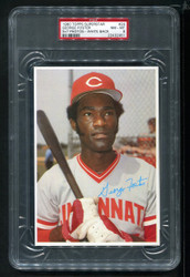 1980 GEORGE FOSTER TOPPS SUPERSTAR #24 WHITE BACK 5X7 PSA 8