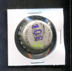 1964 BOBBY HULL SPRITE BOTTLE CAP W/CORK BLACKHAWKS (MK) *R1459