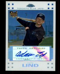 2007 ADAM LIND TOPPS CHROME #/200 ROOKIE WHITE REFRACTOR #2314