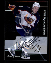 2002 DANY HEATLEY IN THE GAME #226 ROOKIE SIGNATURE SERIES AUTO #5194