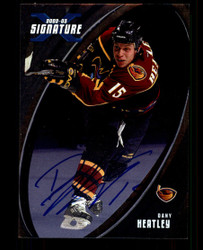 2002 DANY HEATLEY IN THE GAME #001 SIGNATURE SERIES AUTO #3947