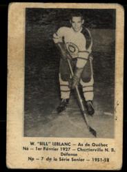 1951 BILL LEBLANC LAVAL DAIRY #7 QSHL VG #5363