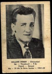 1951 ROLAND HEBERT LAVAL DAIRY #19 QSHL VG #5202
