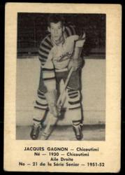 1951 JACQUES GAGNON LAVAL DAIRY #21 QSHL VG/EX #4825