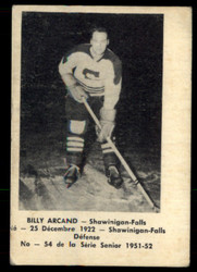 1951 BILLY ARCAND LAVAL DAIRY #54 QSHL VG #4808