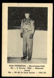 1951 DON PENNISTON LAVAL DAIRY #58 QSHL VG #4976