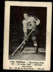 1951 LYALL WISEMAN LAVAL DAIRY #63 QSHL VG #2371