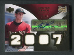 2007 HUNTER PENCE UD EXQUISITE QUAD JERSEY RELIC GOLD AUTO #74/99 #5719