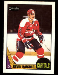 1987 KEVIN HATCHER OPC #68 O PEE CHEE ROOKIE CAPITALS #4595