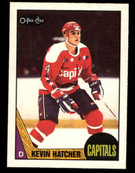 1987 KEVIN HATCHER OPC #68 O PEE CHEE ROOKIE CAPITALS #4585