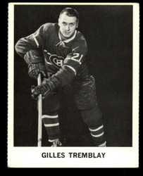 1965 GILLES TREMBLAY COKE NHL COCA COLA CANADIENS