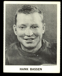 1965 HANK BASSEN COKE NHL COCA COLA REDWINGS