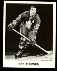 1965 BOB PULFORD COKE NHL COCA COLA MAPLE LEAFS