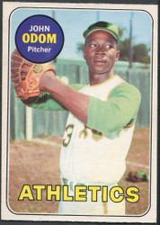 1969 JOHN ODOM OPC #195 O PEE CHEE ATHLETICS NM #2137