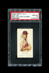 2006 CLIFF LEE  ALLEN GINTER MINI NNO NO NUMBER PSA 10