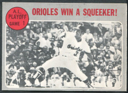 1970 A.L. PLAYOFFS ORIOLES WIN SQUEEKER OPC #199 O PEE CHEE NM #2171