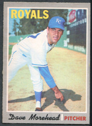 1970 DAVE MOREHEAD OPC #495 O PEE CHEE ROYALS NM #2205