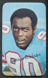 1970 GEORGE WEBSTER TOPPS SUPER #34 OILERS VG