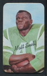 1970 MATT SNELL TOPPS SUPER #20 JETS EXMT/NM