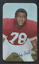 1970 BOBBY BELL TOPPS SUPER #17 CHIEFS EXMT