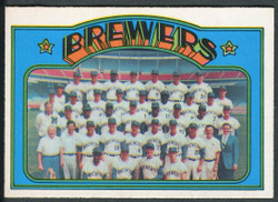 1972 MILWAUKEE BREWERS TEAM OPC #106 O PEE CHEE NM #2359
