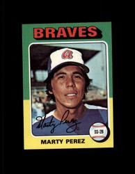 1975 MARTY PEREZ TOPPS MINI #499 BRAVES NM #3169