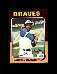 1975 LARVELL BLANKS TOPPS MINI #394 BRAVES NM #1723