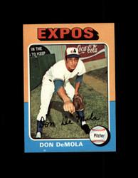 1975 DON DEMOLA TOPPS MINI #391 EXPOS NM #1649