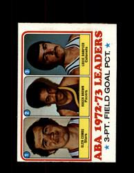 1973 ABA LEADERS TOPPS #236 COMBS - BROWN - DAMPIER NM #5433