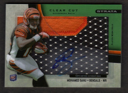 2012 MOHAMED SANU  TOPPS STRATA CLEAR CUT AUTO 2 COLOR JERSEY 32/55