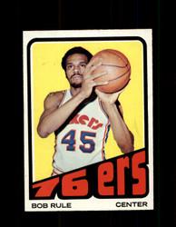 1972 BOB RULE TOPPS #40 76ERS NM #5846