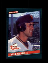 1986 WILL CLARK DONRUSS #32 THE ROOKIES GIANTS NM/MT #5958