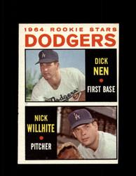 1964 DODGERS ROOKIE STARS TOPPS #14 DICK NEN / WILLHITE NM #5981