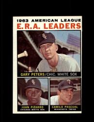 1964 AL ERA LEADERS TOPPS #2 GARY PETERS JUAN PIZARRO NM #5994