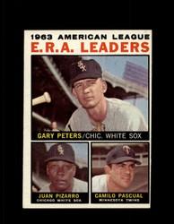 1964 AL ERA LEADERS TOPPS #2 GARY PETERS JUAN PIZARRO EXMT-NM #5995