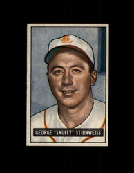 1951 GEORGE SNUFFY STIRNWEISS BOWMAN #21 INDIANS EX-EXMT #6423